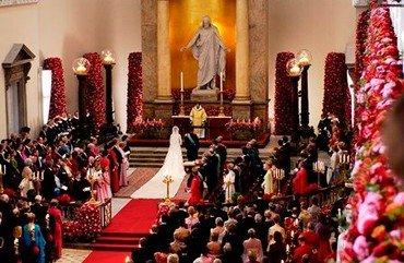 Billede fra Kronprinsens bryllup i Vor Frue Kirke d. 14. maj 2004