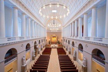 Vor Frue Kirke set fra orgelpulpituret