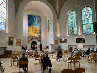 Gottesdienst Hochmeisterkirche in der Coronazeit
