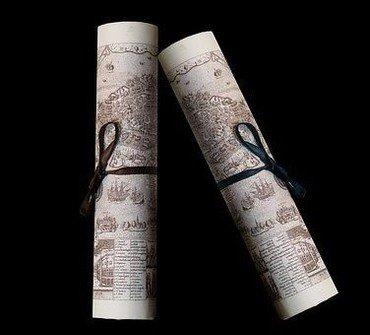 Attester - Papir ruller med sløjfe
