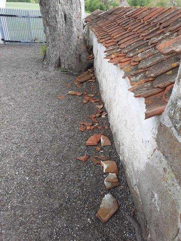 Hærværk på mur