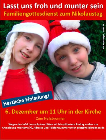 Familiengottesdienst zum Nikolaustag - Einladung