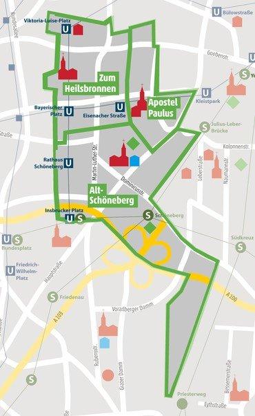 Region Schöneberg Mitte  Map