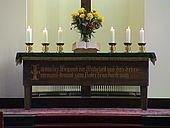 Altar mit Inschrift - Joh 14,6
