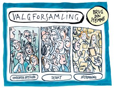 Ilustration af valgforsamling