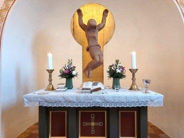 Alteret i Skivholme kirke