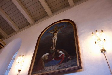 Maleriet i kirkens skib på sydvæggen