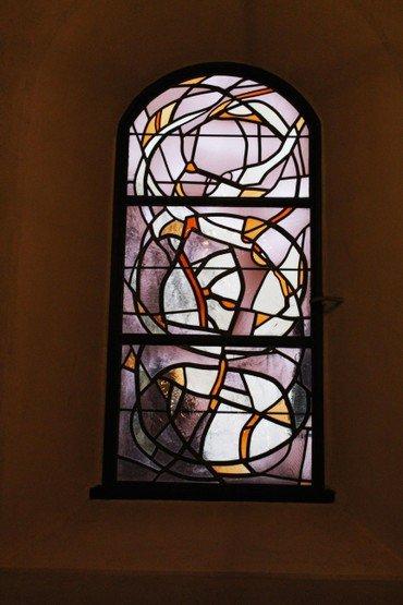 Mosaikvindue i kirken