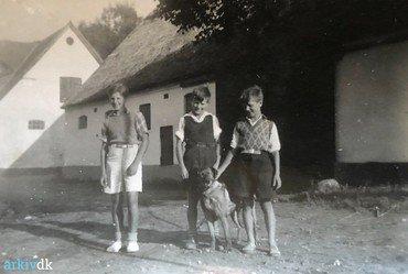 1950-60: Sommerdrenge med hund.