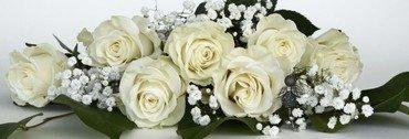 Buket hvide roser