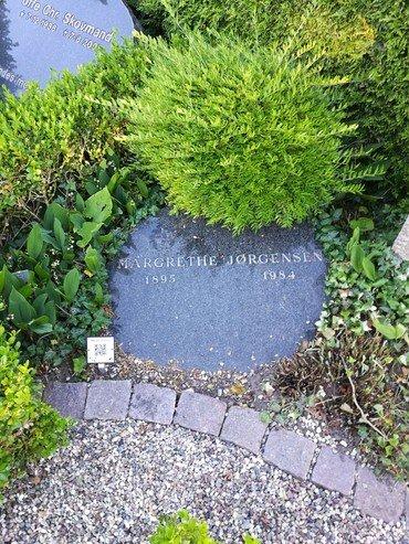 Magrethe Jørgensens gravsten