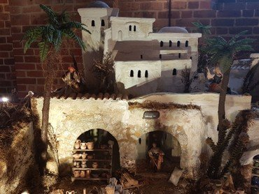 Miniature landskab fra julelegenden