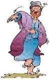 tegnet billede af dansende mand