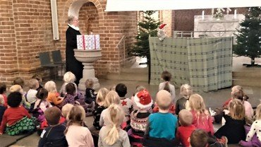 Billede af børn til julegudstjeneste