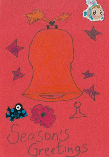 Billede af håndtegnet julekort