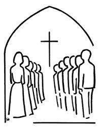 Konfirmander på række i kirken
