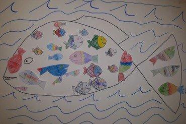 Tegninger af fisk