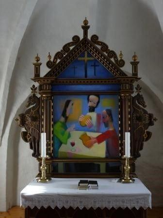 Alteret i Humlum Kirke