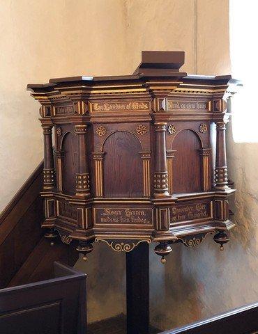 Prædikenstolen i Humlum Kirke