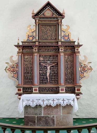Altertavlen i Resen Kirke