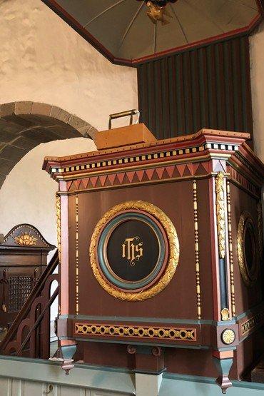 Resen Kirkes Prædikenstol