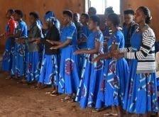 Kvinder der synger i Afrika