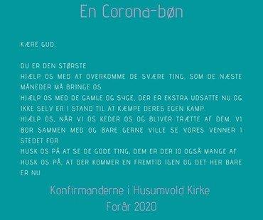 Konfirmandernes coronabøn