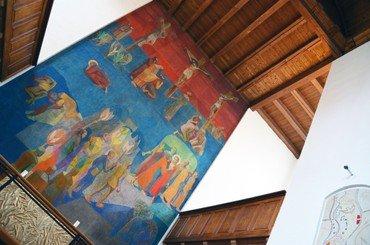Alterfresko i Lindevang kirke