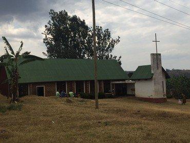 Foto: Kirken set udefra efter udvidelsen i 2014-2015.