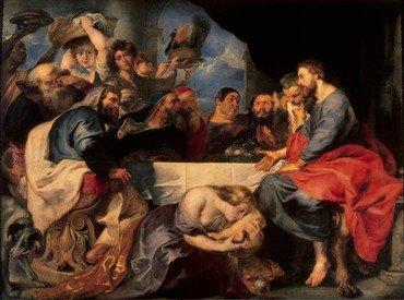 Peter Paul Rubens (1577–1640): Kristus hos Simon Farisæeren/den Spedalske